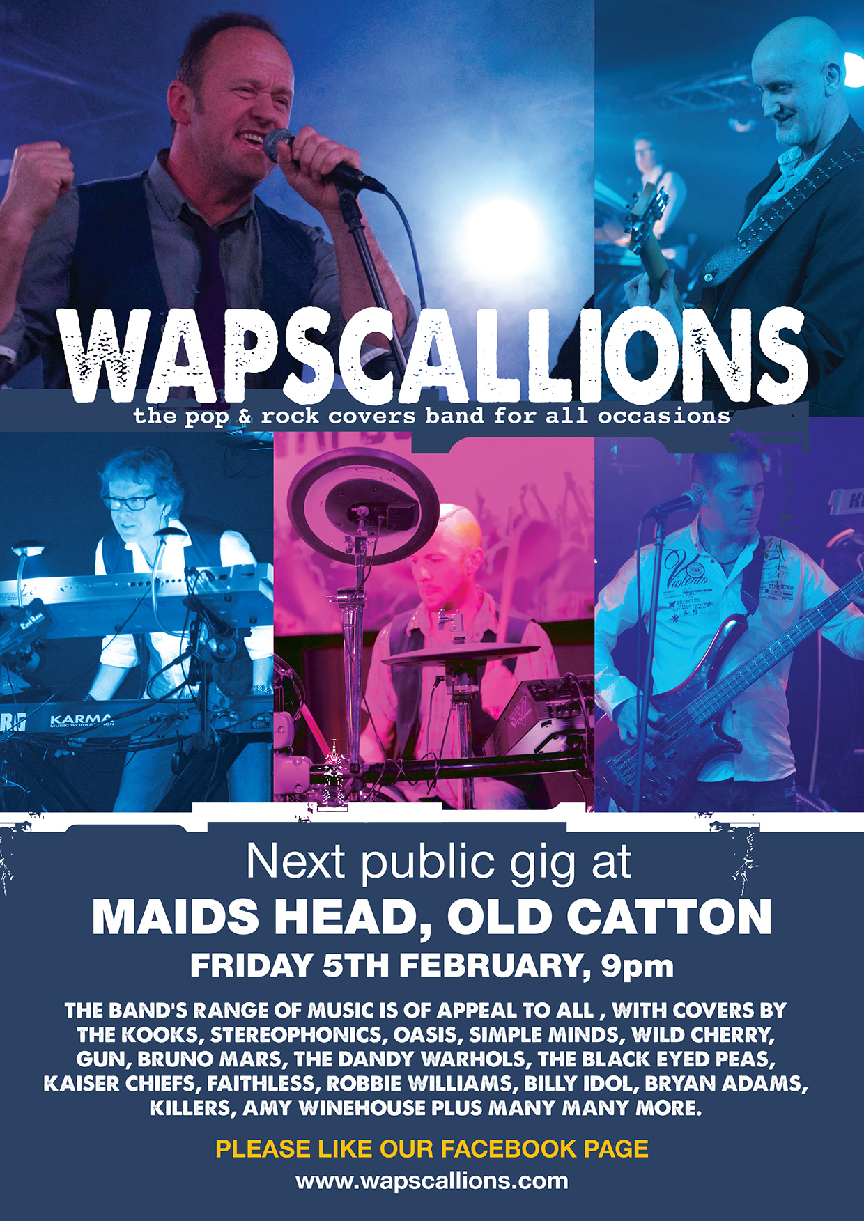 wapscallions gig Maids Head Old Catton 5th February 2016