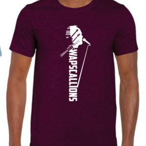 Wapscallions Tee shirt Maroon